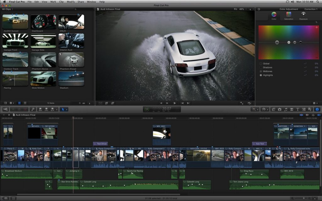 Final Cut Pro Car Scene Screenshot