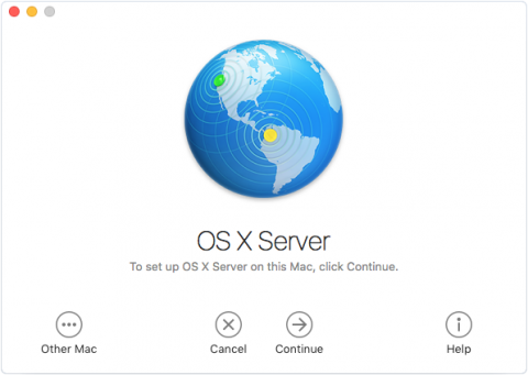 macOS Server Screenshot
